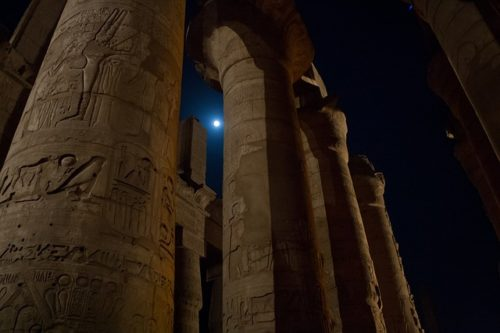 Columns in Luxor, Egypt
