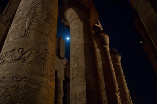 Columns in Luxor, Egypt