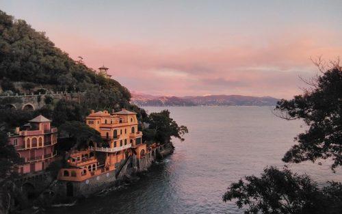 Portofino, Italy, sunset